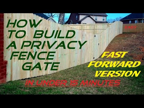 How To Build a Privacy Fence Gate. EASY. In under 15 minutes .FAST FORWARD VERSION