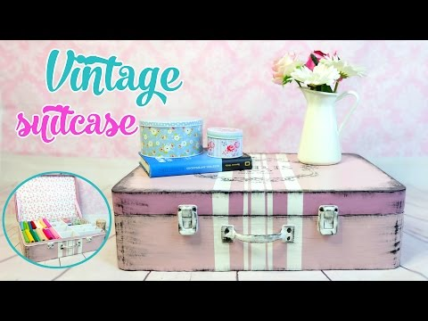 MAKE YOUR OWN VINTAGE SUITCASE WITH CARTON BOXES - Isa ❤️