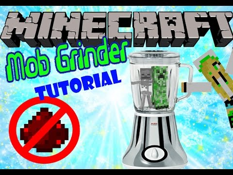 Simple and Easy Mob Grinder (No redstone required!)