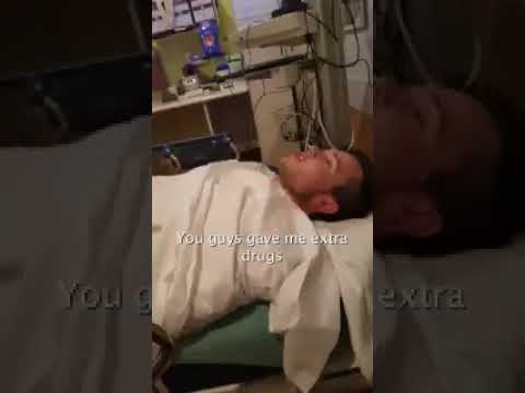 Guy Wakes Up From Surgery, Wants to see Nurse's Tits