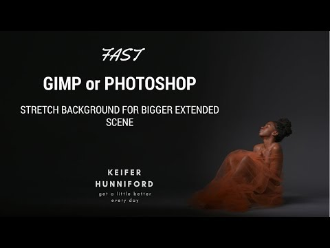 Stretching Background in GIMP or Photoshop to make your studio photography look bigger