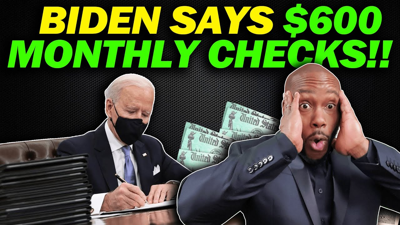 BIDEN'S $600 MONTHLY STIMULUS! $2000 4th Stimulus Check Update + $200 Social Security Update SSI