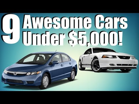 9 Awesome Cars Under $5,000!