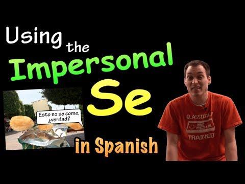 02 How to use Impersonal Se / Passive Se in Spanish