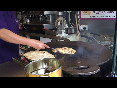 Naan bread Indian street food