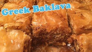 Greek Baklava with Nuts - Cheeky Crumbs