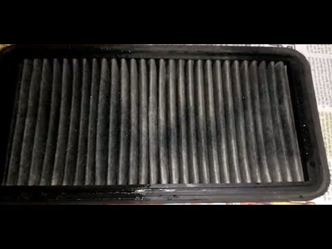 Cleaning of car air filter easily at home