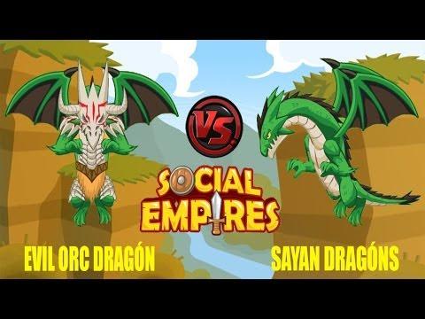 Social Empires - Orc Dragón VS Sayan Dragón