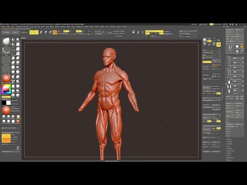 Head and Body Sculpting in ZBrush 9