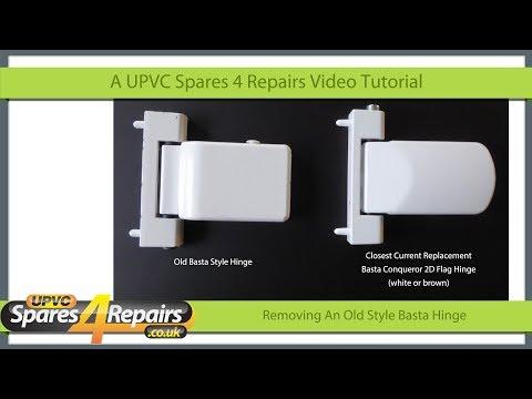 Removing An Old Style Basta Upvc Door Hinge