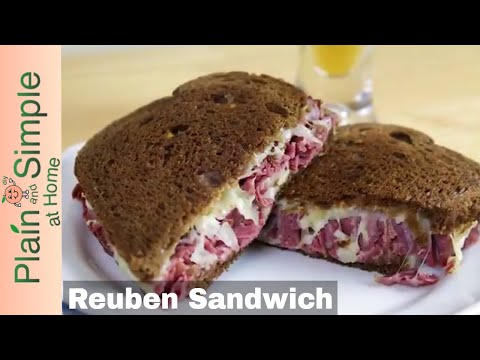 The Classic Dark Rye Reuben Sandwich