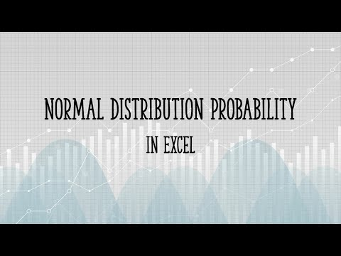 Normal Distribution Probability in Excel