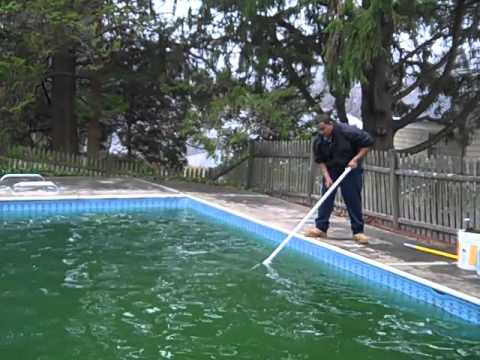 Pool Green To Clean! Not opened in 2 Years!