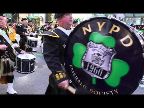 St. Patrick's Day Parade~NYC~2016~NYPD Emerald Society Pipes & Drum Band ~NYCParadelife