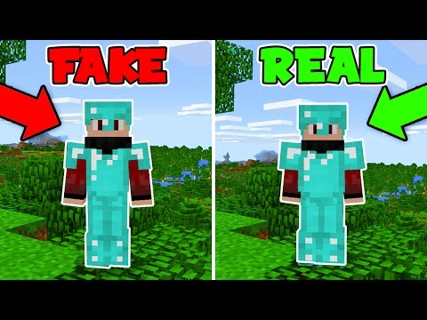 FAKE Diamond Armor Challenge in Minecraft Pocket Edition (Minecraft Trolling)