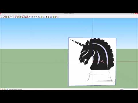 How to make a 3D logo in Google Sketchup