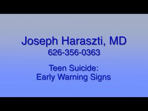 Teen Suicide: Early Warning Signs