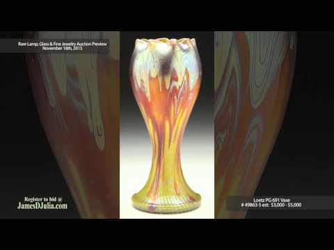 Rare Lamp, Glass and Fine Jewelry Auction Preview: Rare Art Glass