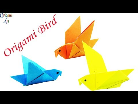 Origami Bird | How To Make A Paper Bird That Can Fly - Easy Instruction For Beginner