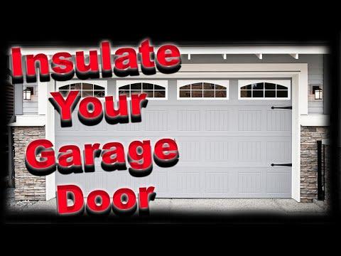 HOW TO INSULATE A GARAGE DOOR THE INEXPENSIVE WAY
