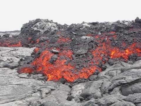 Kilauea a'a Shield Flow June 1, 2010