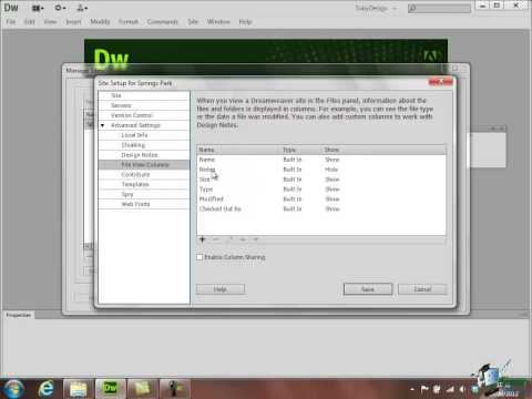 Dreamweaver CS6 Training - Part 23 - Setting up a Remote Server - Creating a Website Course