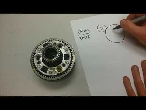 Calculating gear ratios within a planetary gear set