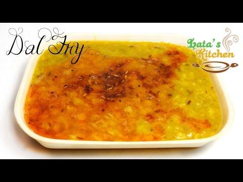 Dal Fry Recipe / Dal Tadka Recipe - Indian Vegetarian Recipe Video in Hindi - Lata's Kitchen