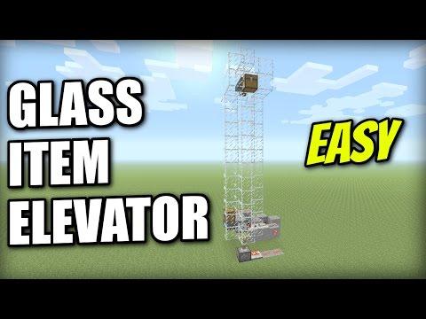 Minecraft PS4 - GLASS ITEM ELEVATOR - Tutorial - PE / Xbox / PS3 / Wii U