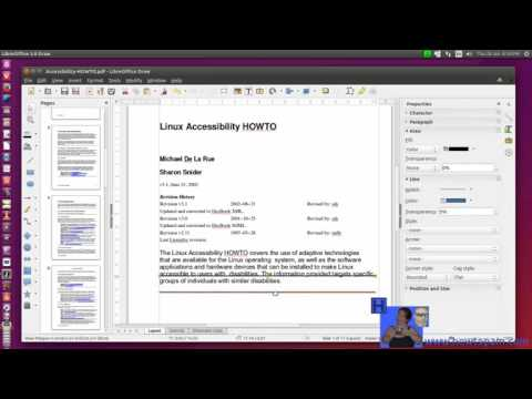 PDF File Editing in LibreOffice Draw Application