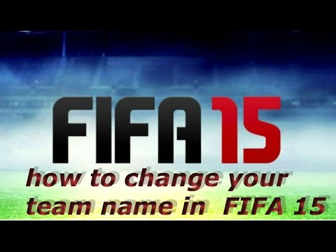 FIFA 15 IOS - how to change your team name