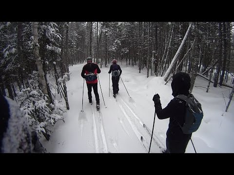 Cross Country Skiing on Maine Huts & Trails Day 1