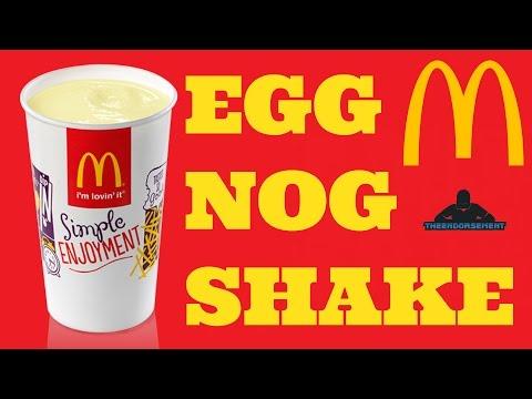 MCDONALD'S EGG NOG MILK SHAKE REVIEW #216
