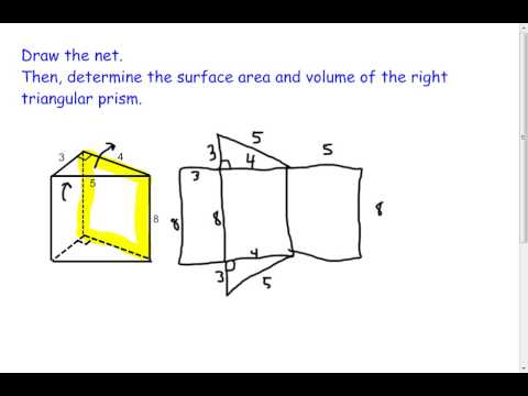 Right Triangular Prism - Volume and Surface Area (7.2)