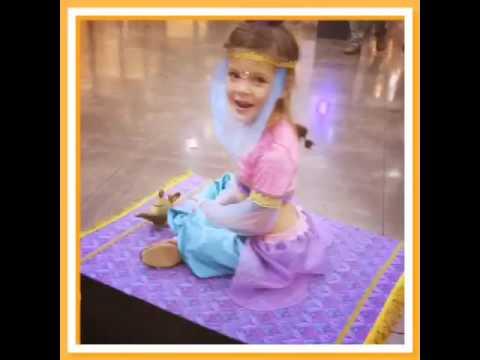 Genie Takes Flight on Magic Carpet.