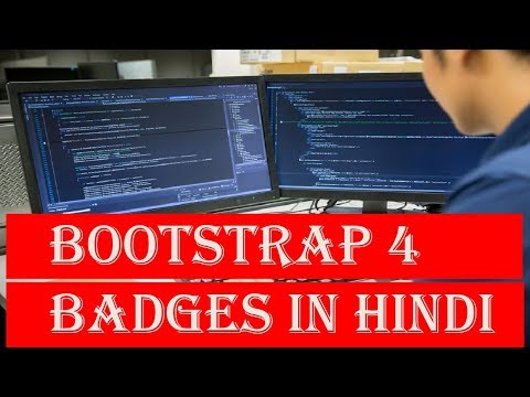 Learn Bootstrap 4 Tutorial in Hindi | Bootstrap 4 Badges in Hindi