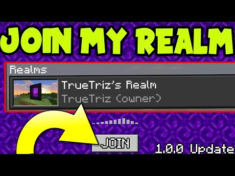 JOIN MY 1.0 REALMS SERVER!! Minecraft Pocket Edition 1.0 MCPE REALM! (MCPE 1.0 UPDATE)