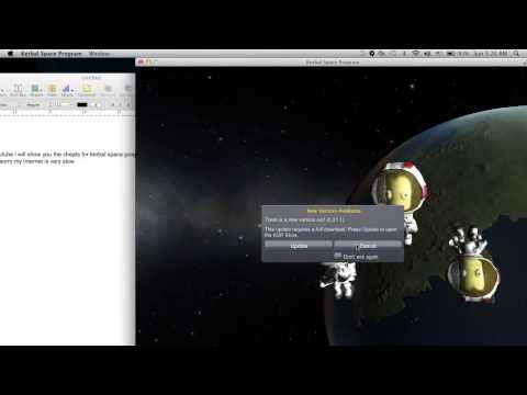 tutorial on how to get the cheats for ksp mac
