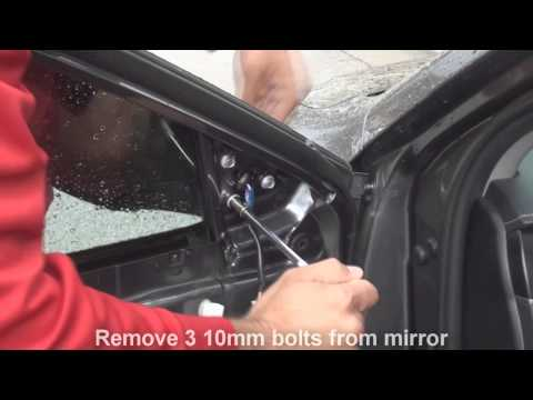 how to remove side mirror toyota camry 2012 2013 2014