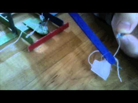 Popsicle stick trebuchet
