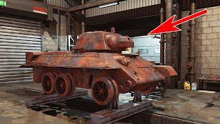 НАШЁЛ ВЗОРВАННЫЙ Т-34-76 НА ДНЕ БОЛОТА! ВОССТАНОВИЛ В МУЗЕЙ - TANK MECHANIC SIMULATOR