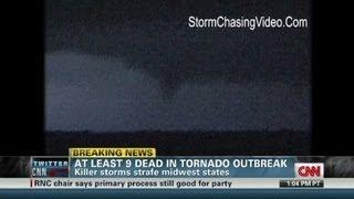 At least 9 dead in tornado outbreak