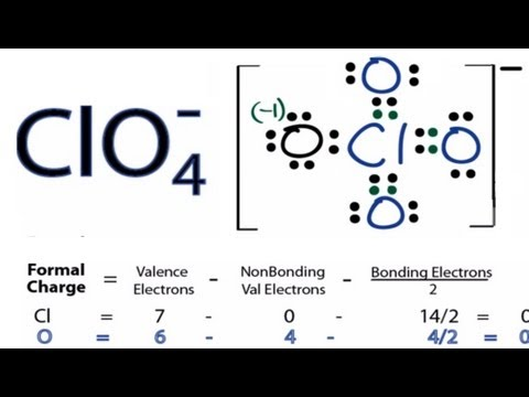 ClO4- Lewis Structure - How to Draw the Lewis Structure for ClO4- (Perchlorate Ion)