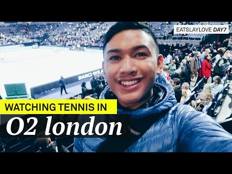 Watching Tennis in The O2 LONDON! - EatSlayLove Day 7 - ohitsROME Travel Vlogs