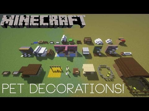 Minecraft: 30 Different Pet Decorations!