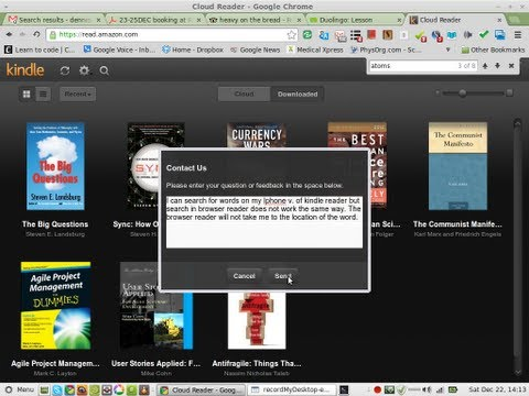 review of kindle cloud reader on google chrome: search fails on browser reader 22DEC2012