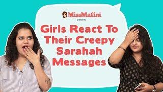 Girls React To Their Creepy Sarahah Messages