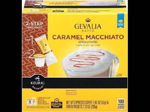 Gevalia Kaffe Caramel Macchiato Espresso Coffee K-Cups