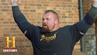 EDDIE THE BEAST HALL: STRONGMAN'S TOUGHEST LIFTS | The Strongest Man in History (Season 1) | History