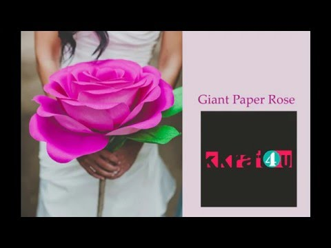 How To Make Tissue Paper Giant Pink Rose